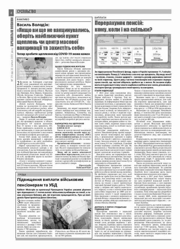 Газета Бучанські новини випуск 29 2021, стор.4